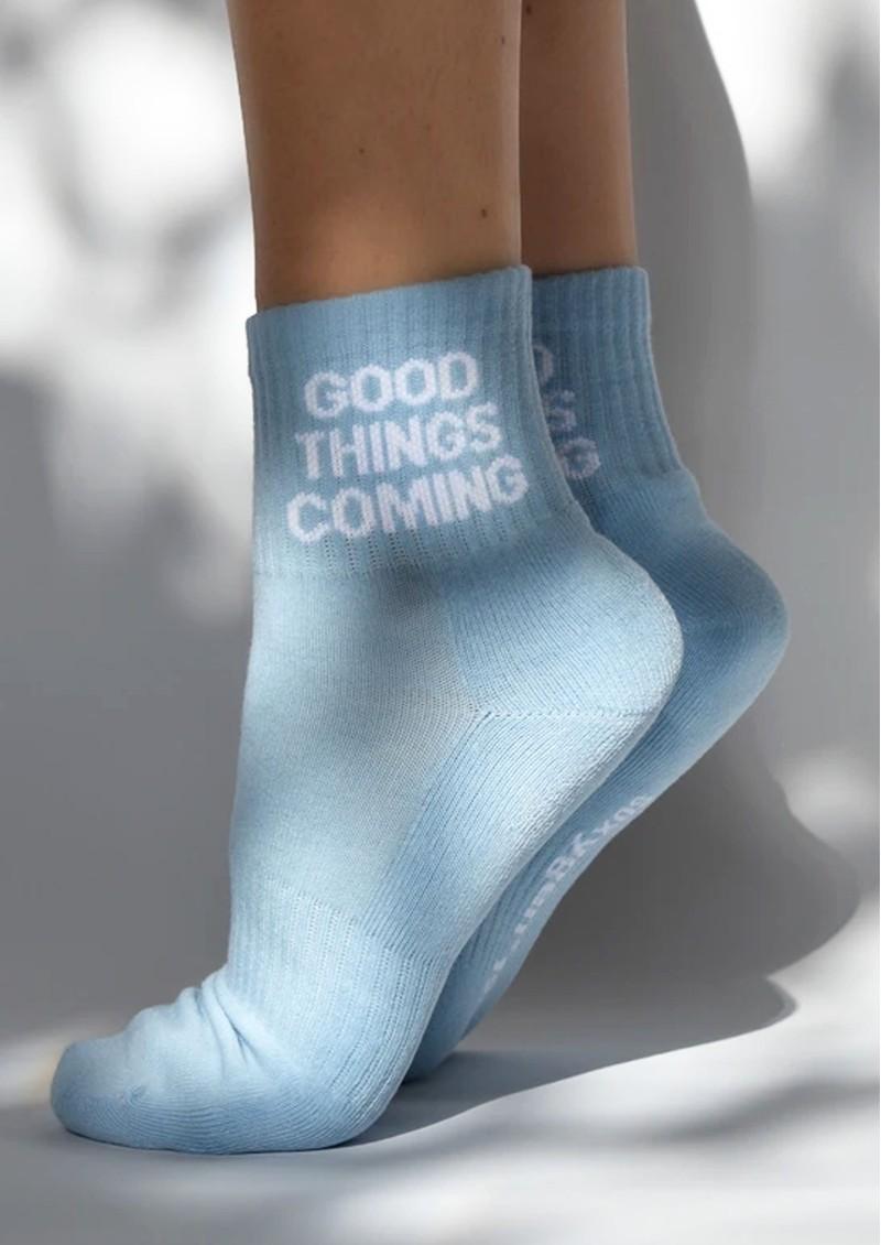 SOXYGEN Good Things Coming Organic Cotton Socks - Sky Blue main image