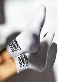 SOXYGEN Good Things Coming Organic Cotton Socks - Frost White