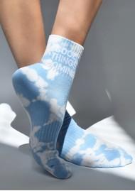 SOXYGEN Good Things Coming Organic Cotton Socks - Cloud Tie Dye