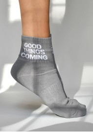 SOXYGEN Good Things Coming Organic Cotton Socks - Dove Grey