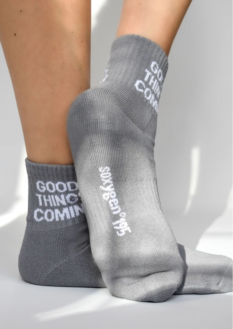 SOXYGEN Good Things Coming Organic Cotton Socks - Dove Grey main image
