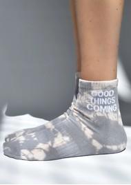 SOXYGEN Good Things Coming Organic Cotton Socks - Dusk Tie Dye
