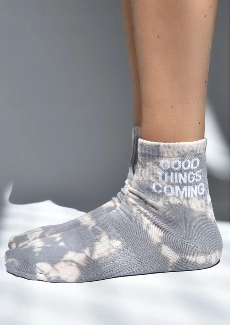 SOXYGEN Good Things Coming Organic Cotton Socks - Dusk Tie Dye main image