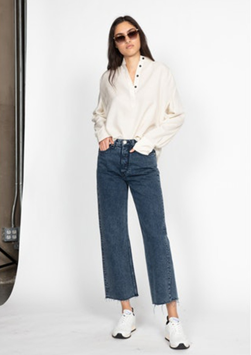 RAG & BONE Maya High Waisted Ankle Wide Leg Jeans - Bridle Tra main image
