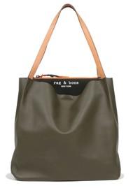 RAG & BONE Passanger Leather Tote Bag - Olive Black