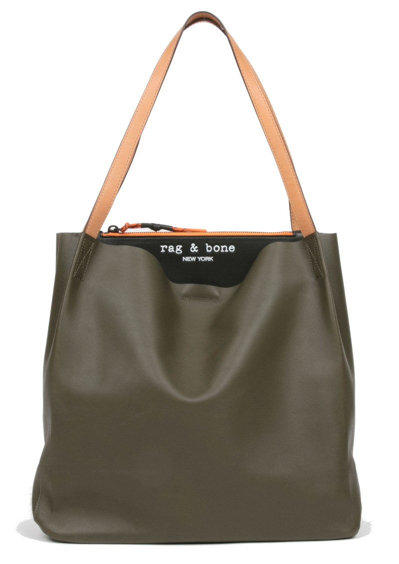 RAG & BONE Passanger Leather Tote Bag - Olive Black main image