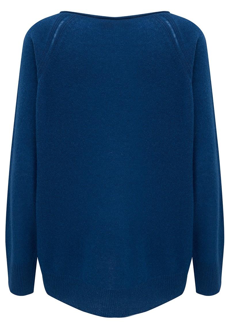 360 SWEATER Jessa Wide Neck Cashmere Jumper - True Blue main image