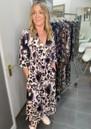 Fernanda V Neck Dress - Blooms Blue additional image