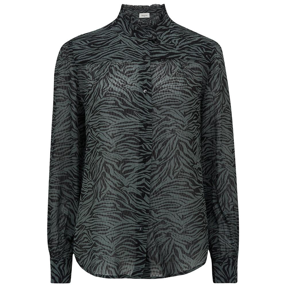 Chris Zebra Printed Blouse - Wild Khaki