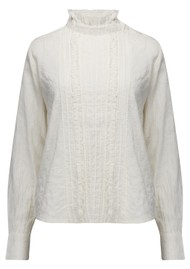 BERENICE Chad Cotton Blouse - Off White