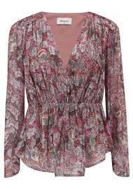 BERENICE Touchy Floral Top - Pink Midnight
