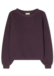 American Vintage Ikatown Cotton Mix Sweatshirt - Eggplant