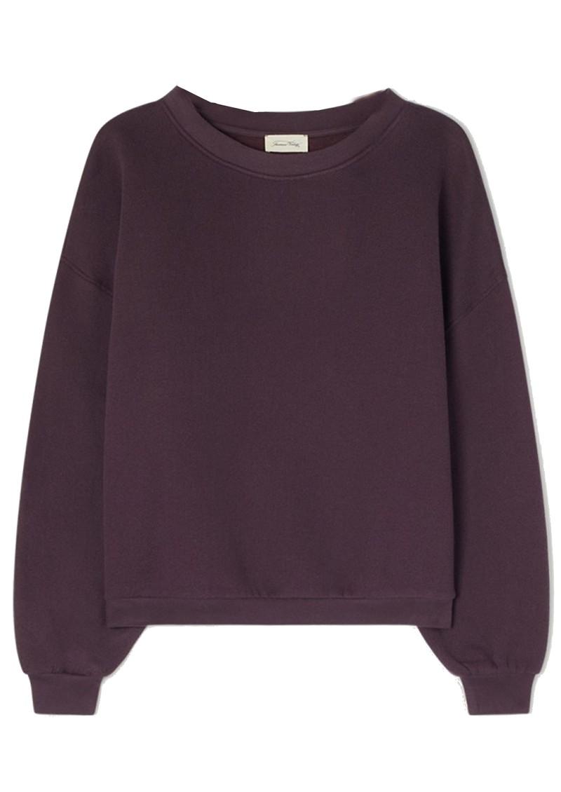 American Vintage Ikatown Cotton Mix Sweatshirt - Eggplant main image