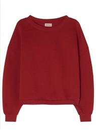 American Vintage Ikatown Cotton Mix Sweatshirt - Berry