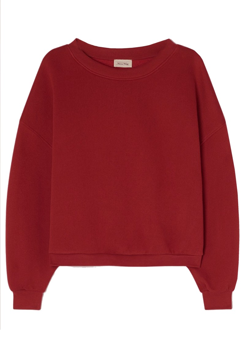 American Vintage Ikatown Cotton Mix Sweatshirt - Berry main image