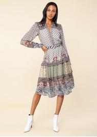 Hale Bob Naomi Midi Belted Dress - Ivory