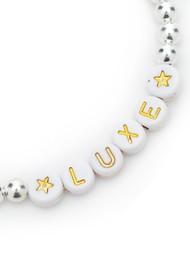 BONNY & BLITHE Luxe Beaded Bracelet - White & Silver