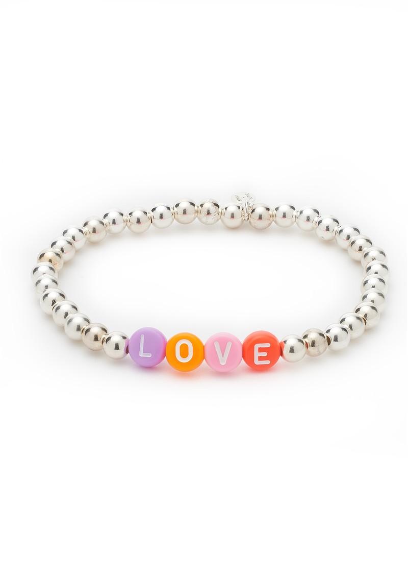 BONNY & BLITHE Love Beaded Bracelet - Multi Brights & Silver main image
