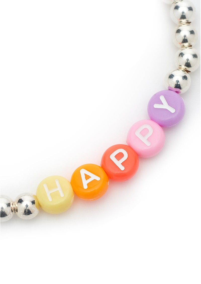 BONNY & BLITHE Happy Beaded Bracelet - Multi Brights & Silver main image