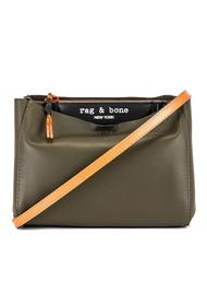 RAG & BONE Passenger Cross Body Leather Bag - Olive black