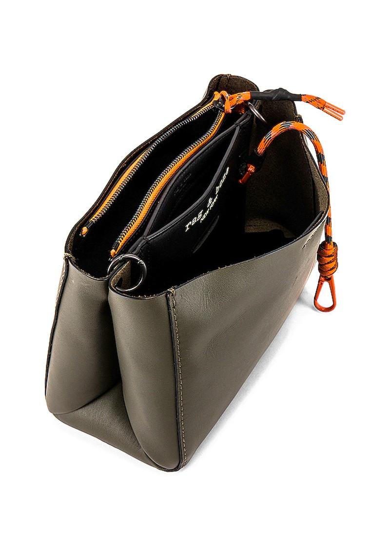 RAG & BONE Passenger Cross Body Leather Bag - Olive black main image