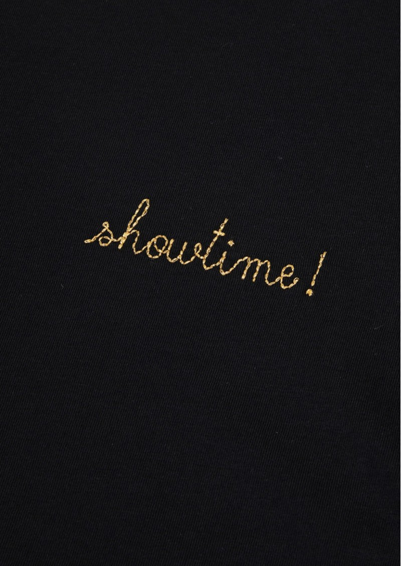MAISON LABICHE Showtime Crew Organic Cotton Tee - Black main image