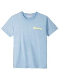 MAISON LABICHE Kindness Crew Organic Cotton Boyfriend Tee - Pastel Blue