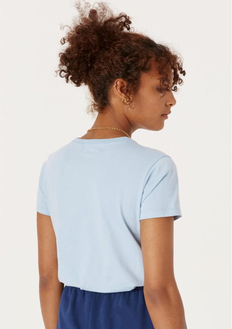 MAISON LABICHE Kindness Crew Organic Cotton Boyfriend Tee - Pastel Blue main image