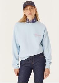 MAISON LABICHE Keep Smiling Organic Cotton Sweater - Pastel Blue