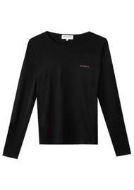 MAISON LABICHE Amour Long Sleeve Organic Cotton Top - Black