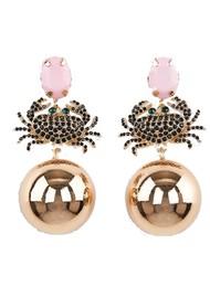 ESSENTIEL ANTWERP Alvaro Crab Earrings - Lipstick Wonder