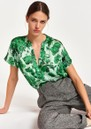 Astronomy Silk Printed Top - Pistachio additional image