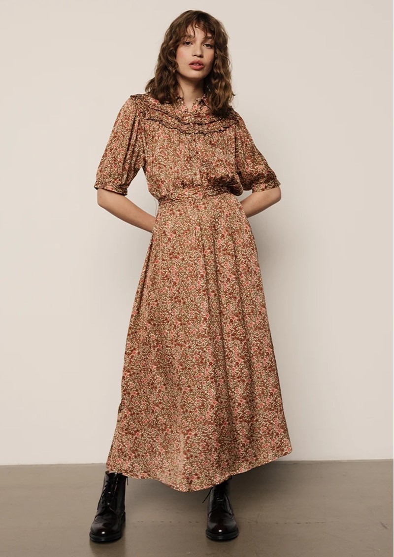 Lily and Lionel Heather Dress - Astor Olive main image