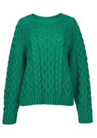 ESSENTIEL ANTWERP Agatti Cable Sweater - Green