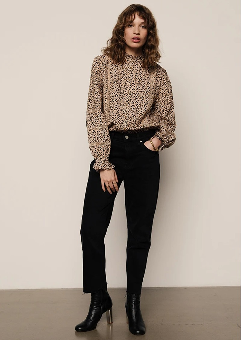 Lily and Lionel Abby Cotton Mix Shirt - Polka Animal main image