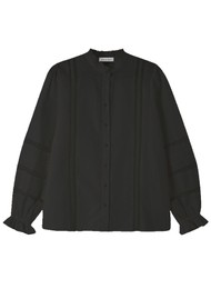 Lily and Lionel Abby Cotton Mix Shirt - Black
