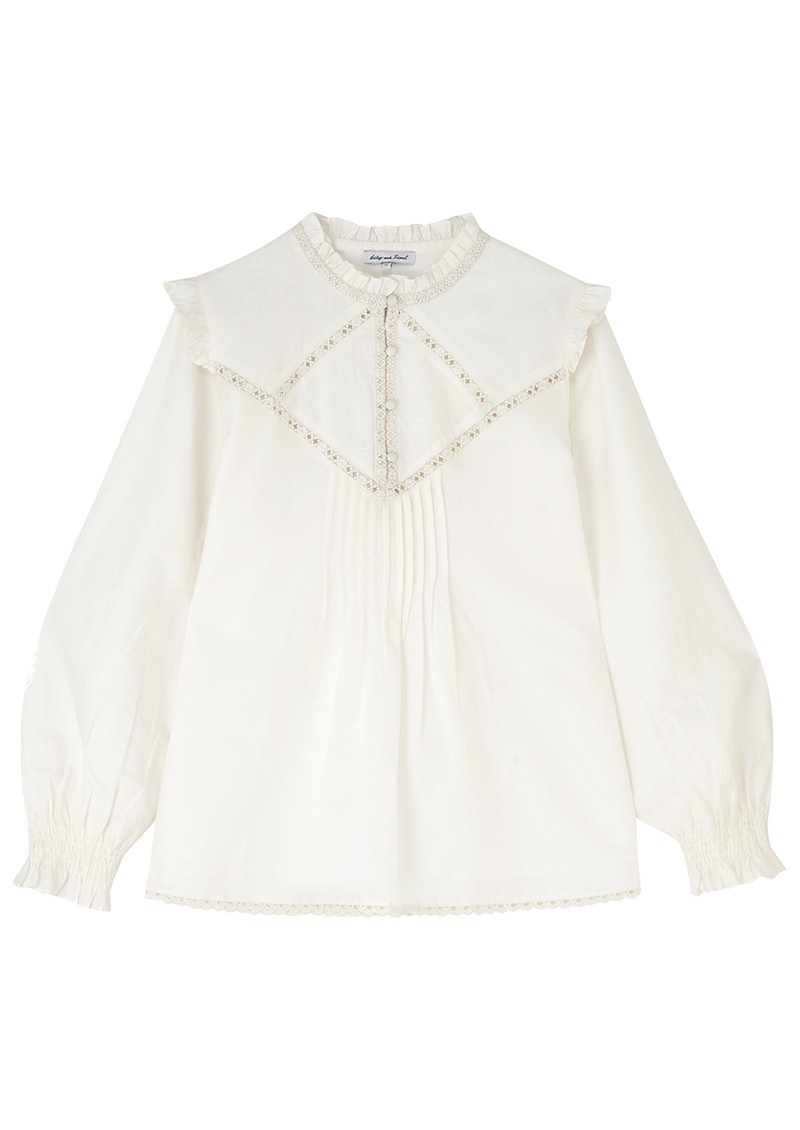 Lily and Lionel Faye Cotton Mix Top - Ivory main image