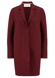 HARRIS WHARF Cocoon Wool Coat - Berry
