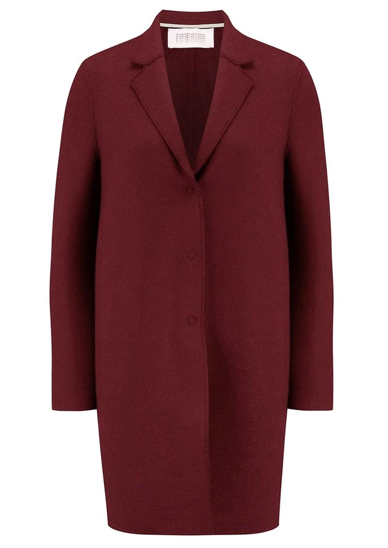 HARRIS WHARF Cocoon Wool Coat - Berry main image