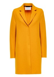 HARRIS WHARF Cocoon Wool Coat - Yolk