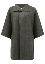 HARRIS WHARF Kimono Mantle Coat - Ebony Grey