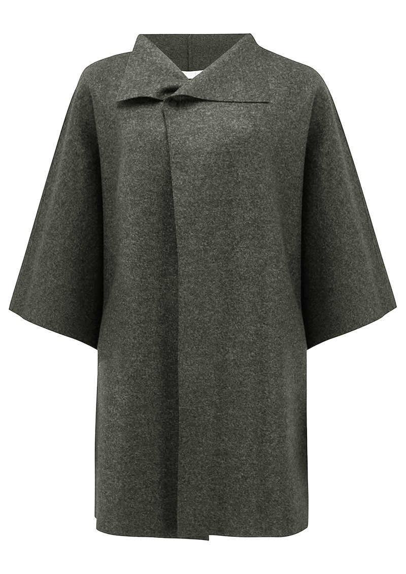 HARRIS WHARF Kimono Mantle Coat - Ebony Grey main image