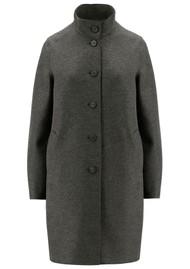 HARRIS WHARF Eggshaped Pressed Wool Coat - Ebony Grey