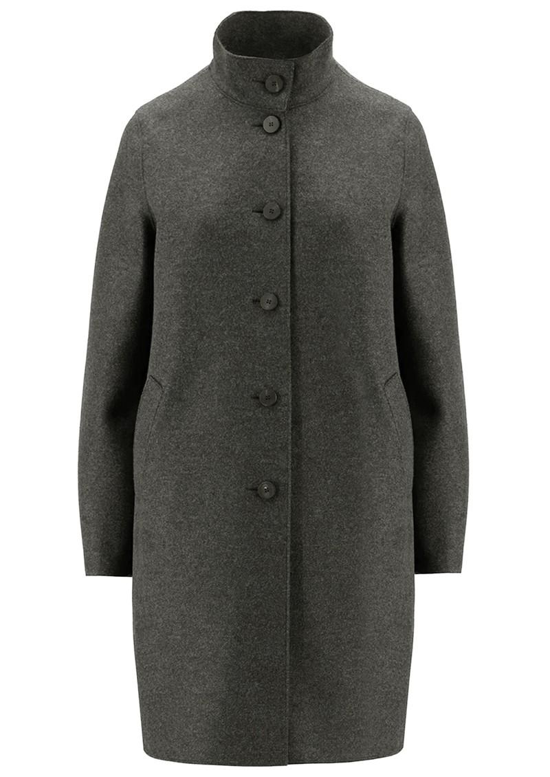 HARRIS WHARF Eggshaped Pressed Wool Coat - Ebony Grey main image