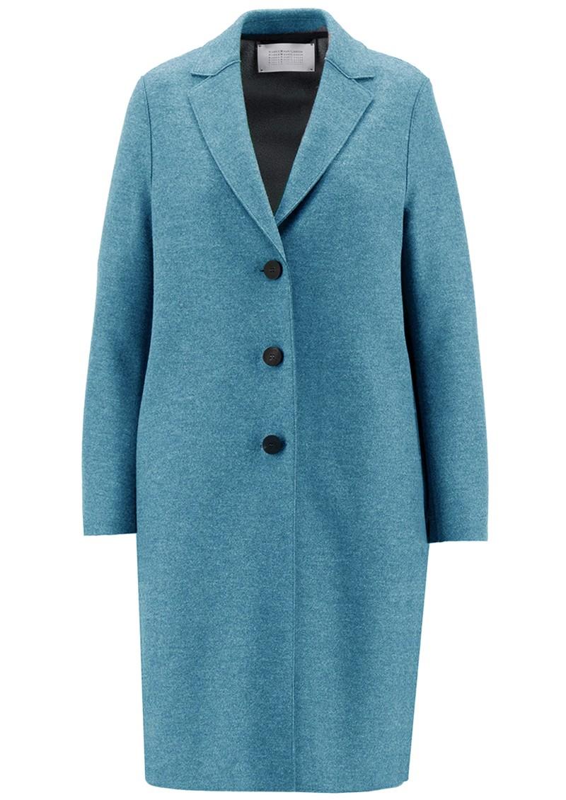 HARRIS WHARF Pressed Wool Polaire Overcoat - Azure main image