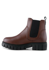 SHOE THE BEAR Rebel Chelsea Warm Leather Boots - Dark Brown