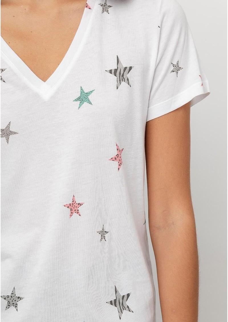 Rails Cara Cotton Mix Tee - White Multi Animal Stars main image