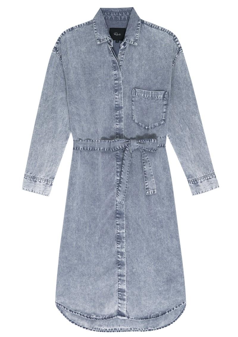 Rails Ames Denim Dress - Blue Acid Wash main image