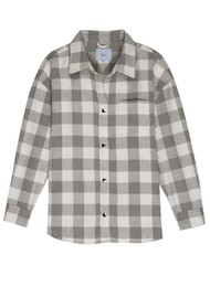 Rails Tripp Wool Mix Shirt Jacket - Ivory Rain