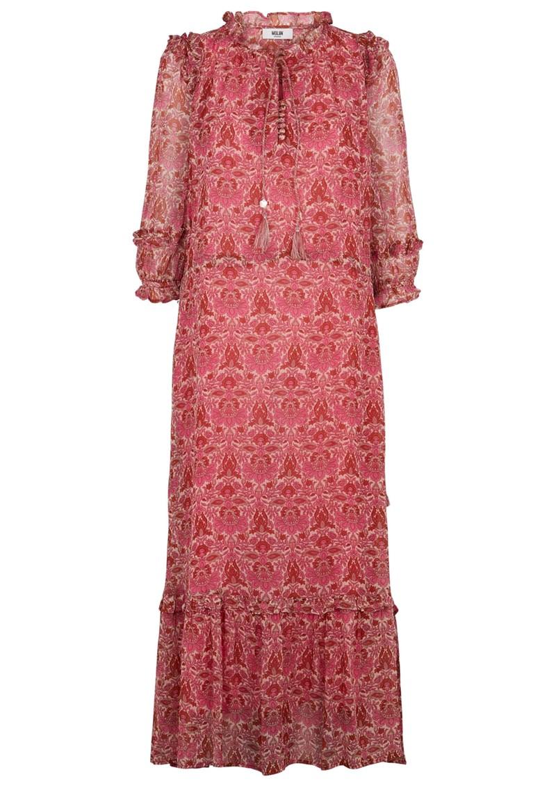 MOLIIN Olga Floral Printed Dress - Rose Violet main image